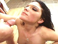 Lacey gets her pussy deep dicked by Travis Knight before getting facialized
