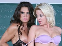 Milf teacher in a threesome