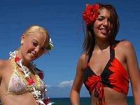Lesbian frolics on the beach