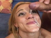 Kirra Lynn covers her face with hot jizz
