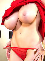 Busty Kelly Madison in red