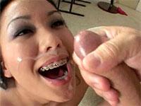Avena Lee blowjob and messy facial